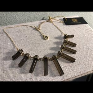 House of Harlow Chrysalis Necklace Smokey Quartz